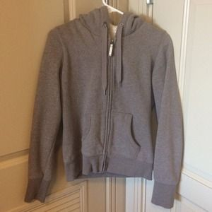 H&M Outerwear - Taupe Gray Brown Sweater Hoodie