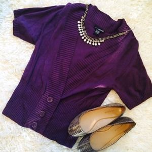 Gorgeous Eggplant Cardigan with Buttons!