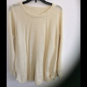 Sweaters - Creamy stitched detail sweater