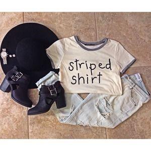 NWT Striped Shirt Tee