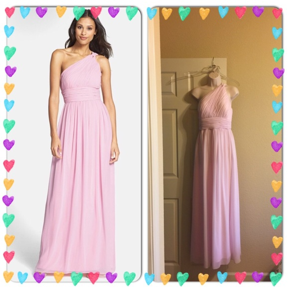Donna Morgan Dresses | Rachel One Shoulder Chiffon Gown | Poshmark