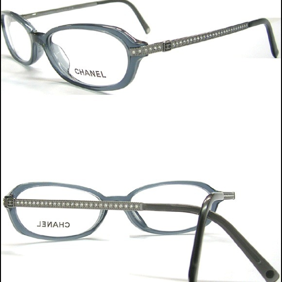 Chanel Eyeglass Frames With Rhinestones : 61% off CHANEL Accessories - NEW Chanel CC Eyeglass Frame ...