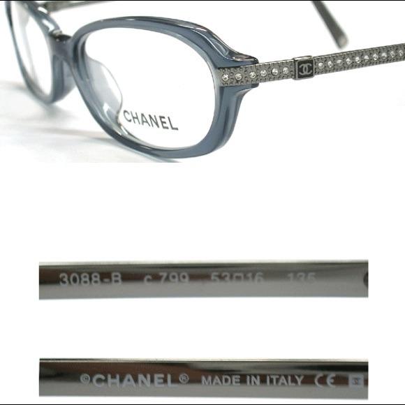 Chanel Eyeglass Frames With Rhinestones : 61% off CHANEL Accessories - NEW Chanel CC Eyeglass Frame ...