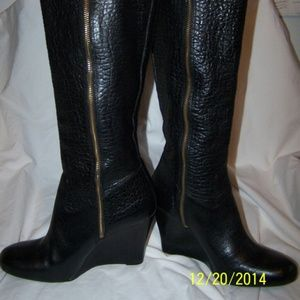 Tory Burch Dabney Wedge Heel Riding boots sz 10 M
