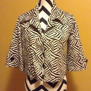 Nice jacket zebra print sz. S