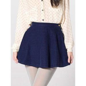American Apparel circle  corduroy skirt