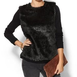 Faux Fur Front Sweater