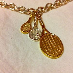 *FINAL PRICE* S. Williams tennis racket necklace