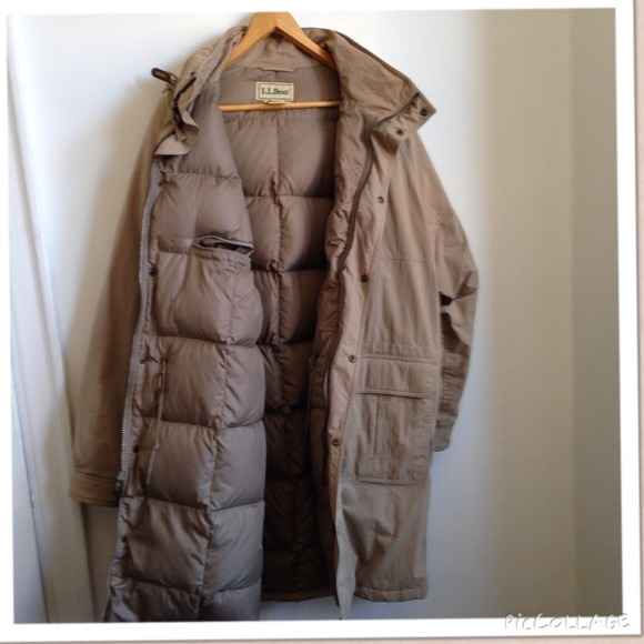 51% off L.L. Bean Jackets & Blazers - L.L. Bean long down coat ...