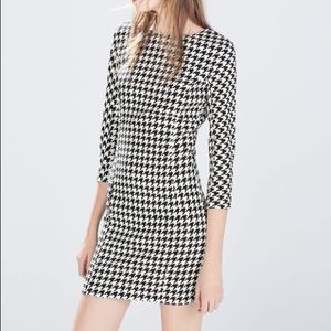 HOST PICK Zara Houndstooth dress