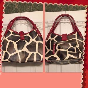 Handbags - Reduced!! Cute Animal Print Pocketbook!!