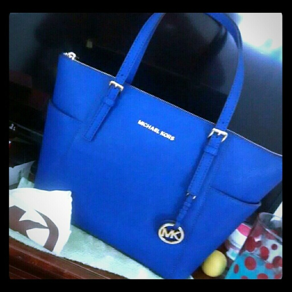 Michael Kors Jet Set Tote Royal Blue