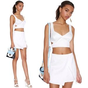 Nasty Gal cutout crop top