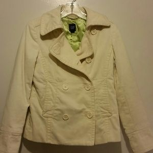 Gap cream corduroy peacoat