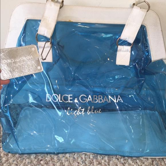 Dolce   Gabbana Handbags - Dolce and Gabbana Light Blue clear Beach Tote 410afeb1858ca