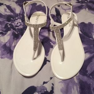 Traffic Shoes - White sandals size 9