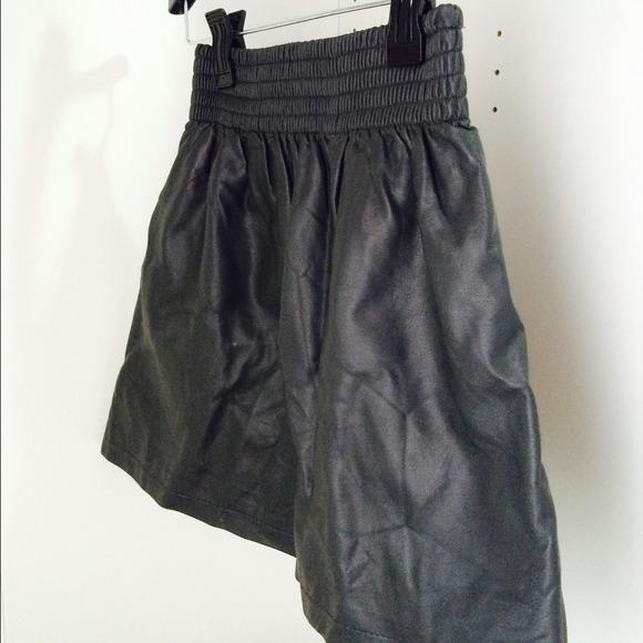 h m vegan leather skater skirt from jess s