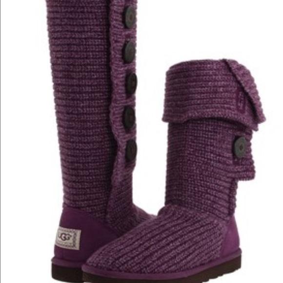 Purple classic candy crochet uggs