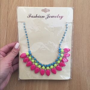 Neon Statement Necklace