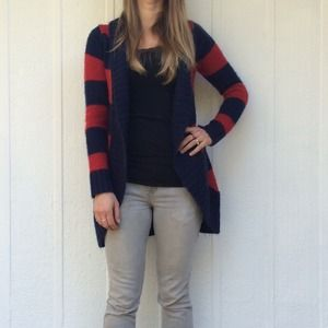 Wet Seal Sweaters - Striped cardigan