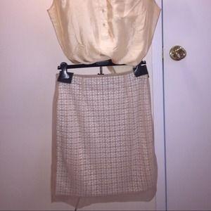 Alessandro Dell'Acqua Dresses & Skirts - Alessandro Dell'Acqua peach textured pencil skirt