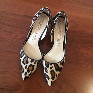 Sole Society Shoes - Animal print pumps from sole society