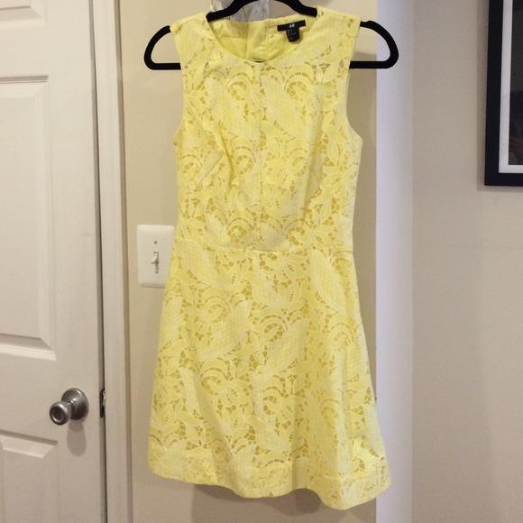 Pale Yellow Lace Dress H&m