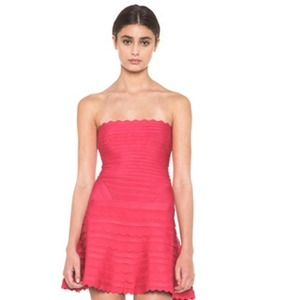 2X HP Herve Leger Scalloped Dress - XXS