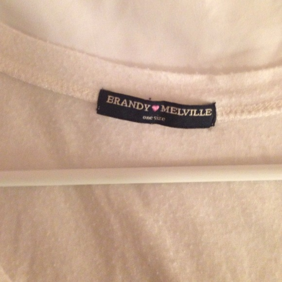 Brandy Melville Tops - Brandy Melville white vneck crop top
