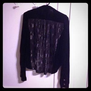 2b.Rych Jackets & Blazers - 2B Rych military hi-lo jacket polka dot sheer back