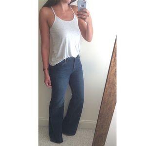 High-Waisted Flared Denim Jean
