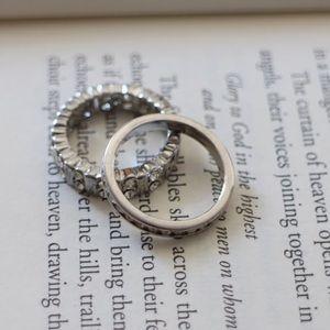 Eternity band ring bundle