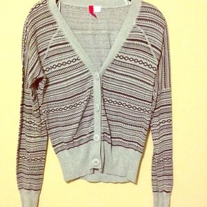 Aztec pattern grey cardigan
