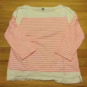 ❌❌BUNDLED❌❌J. Crew Engineered-Stripe Boatneck Top