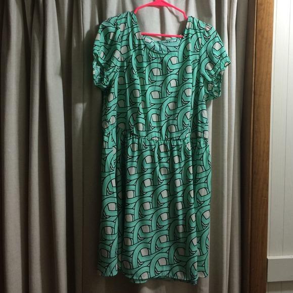 Aqua scatter dress!