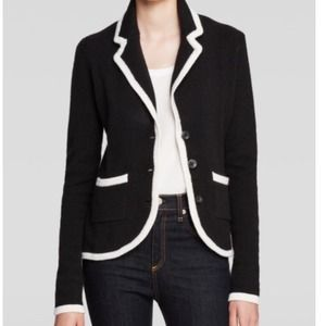 Forever 21 Jackets & Blazers - Forever 21 Black Blazer with a White Trim