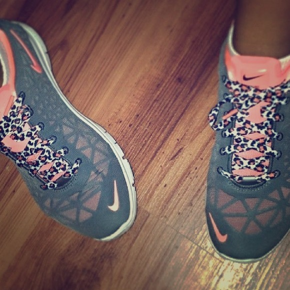7b8c65c42f9a ... Nike Shoes - Nike Womens Free TR Fit 3 with leopard shoe lace ...