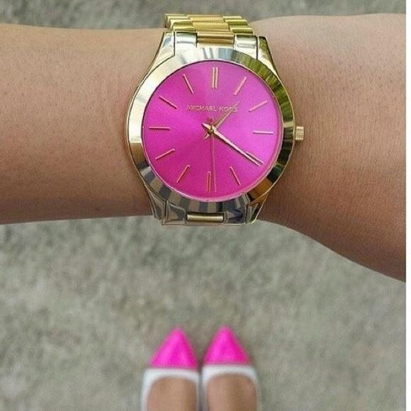 розовые часы michael kors том, что настоящее
