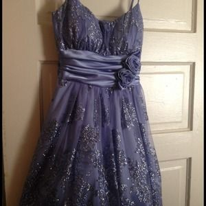 Prom Dress -- Purple/Silver
