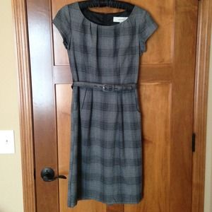 Merona Plaid Belted Dress with Pockets