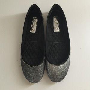 Boutique 9 Shoes - Boutique 9 silver glittery flats
