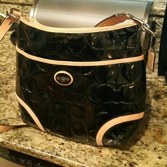 hermes tote bag - 86% off Coach Handbags - Black and Tan Coach crossbody purse from ...