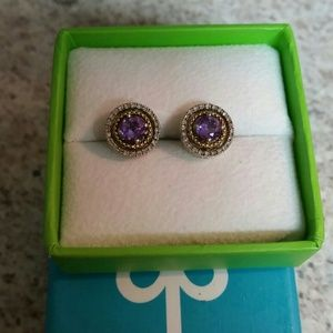 Jewelry - Beautiful amethyst and gold earrings