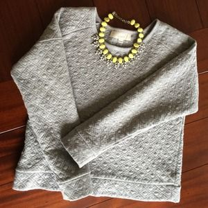 LOFT Sweaters - Loft Gray Quilted/Embossed sweater