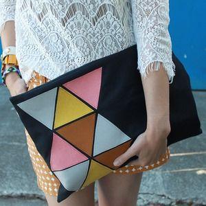 Clutches & Wallets - Extra Large Canvas Clutch