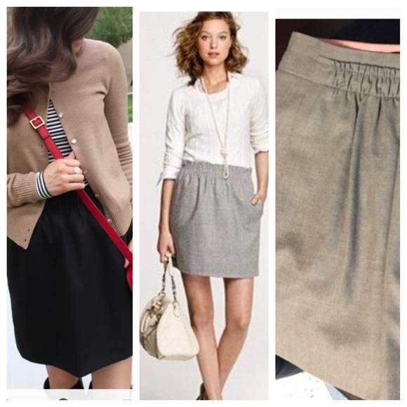 f8944b5c169216 J. Crew Skirts | Jcrew Beige Tan Wool Blend Mini Skirt 0 | Poshmark