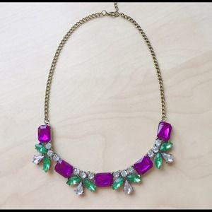 BUNDLED Gem statement necklace