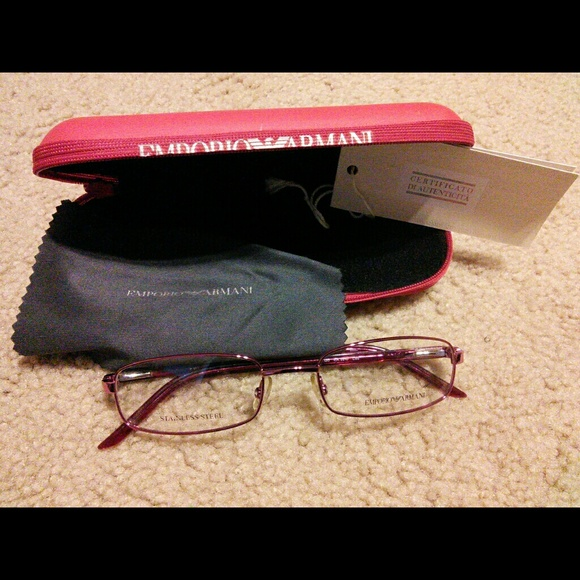 ac27d0a71ccf A X Armani Exchange Accessories - Emporio Armani Eyeglasses Frame in Plum
