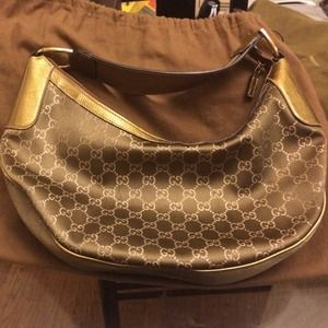  AUTHENTIC GUCCI LIMITED EDITION GOLD/BRONZE BAG