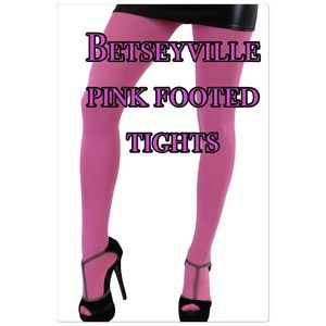 Betsey Johnson Accessories - 🎉HP New pink Betseyville footed tights S/M & M/T